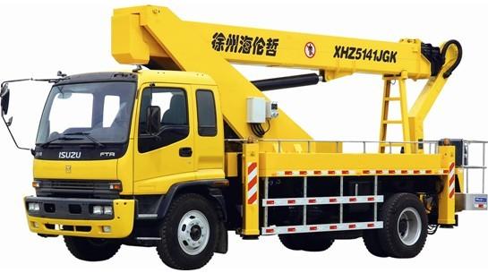 海倫哲XHZ5141JGK慶鈴29米混合臂高空作業車高清圖 - 外觀