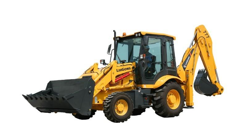 柳工CLG777挖掘装载机高清图 - 外观