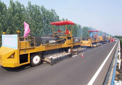 森远SY4500型沥青路面热再生重铺机组高清图 - 外观