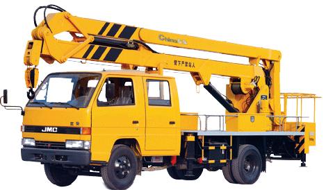 石煤机SMJ5061JGK型折叠臂高空作业车高清图 - 外观