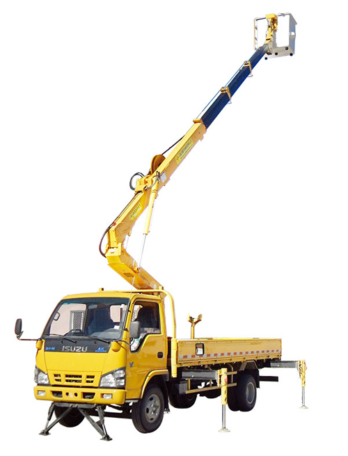 石煤机SMJ5051JGKQ18/SMJ5052JGKQ18型伸缩臂高空作业车高清图 - 外观