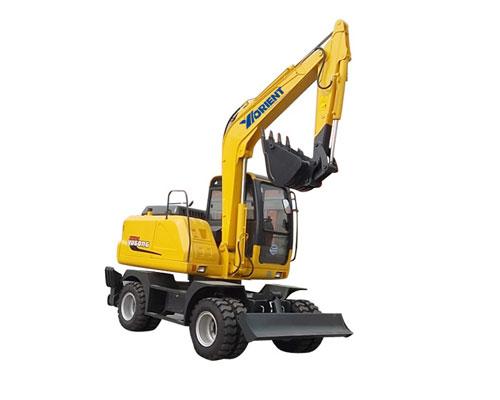 愚公WYL75X4-8轮式挖掘机高清图 - 外观