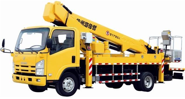 海倫哲XHZ5095JGK慶鈴22米伸縮臂高空作業車高清圖 - 外觀