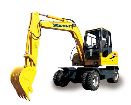 愚公WYL65X4-8轮式挖掘机高清图 - 外观