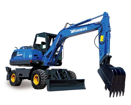 愚公WYL85X4-8轮式挖掘机高清图 - 外观
