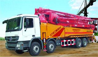 内蒙古北方重工ACTROS4141型混凝土泵车