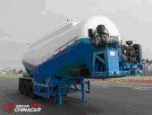 内蒙古北方重工中密度粉粒�物料运输半挂车