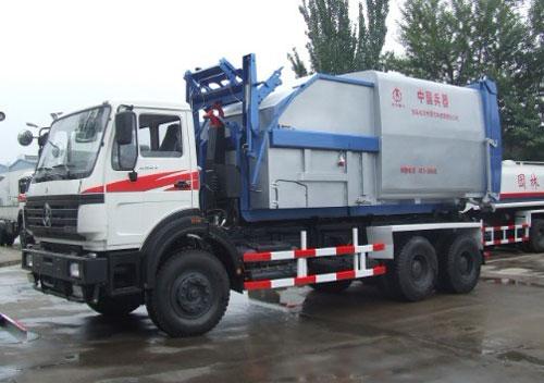 内蒙古北方重工BZ5250ZXX型25吨车厢可卸式垃圾车高清图 - 外观