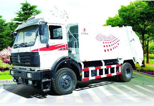 内蒙古北方重工BZ5160ZYS型后装压缩式垃圾车高清图 - 外观
