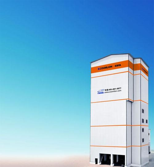 中联重科实用新型楼式干混砂浆搅拌站高清图 - 外观