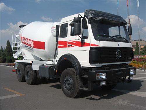 巴里巴ND5254GJBZ(北奔8 m3)搅拌运输车高清图 - 外观