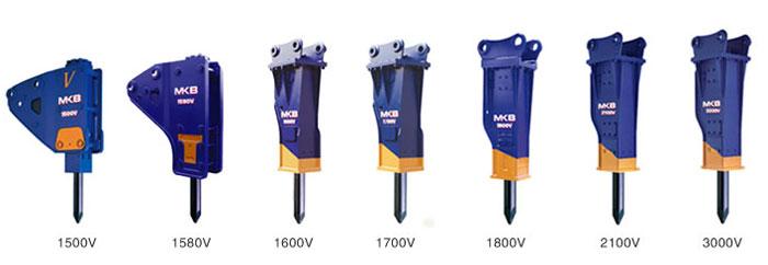 甲南V系列适用中大型挖掘机MKB油压破碎锤高清图 - 外观