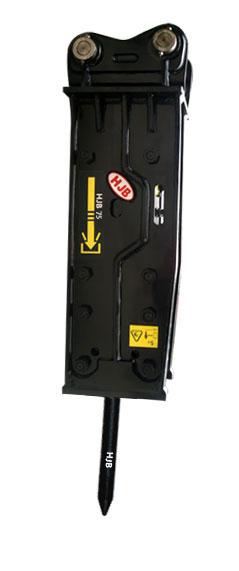 黑金刚HJB75夹板顶置型破碎器高清图 - 外观