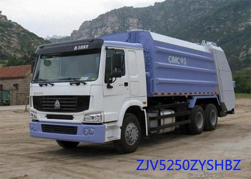 青岛中集环卫ZJV5250ZYSHBZ型20-22立方 压缩式垃圾车高清图 - 外观