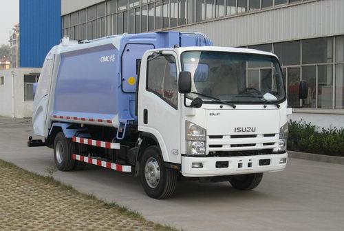 青岛中集环卫ZJV5100ZYSHBQ型8-10立方 压缩式垃圾车高清图 - 外观