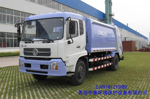 青岛中集环卫ZJV5161ZYSHBE型12-14立方 压缩式垃圾车高清图 - 外观