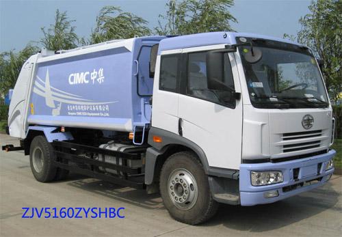 青岛中集环卫ZJV5160ZYSHBC型12-14立方 压缩式垃圾车高清图 - 外观