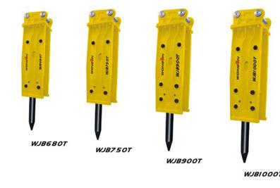 雄进WJB680T/WJB750T/WJB900T/WJB1000T塔型破碎锤高清图 - 外观