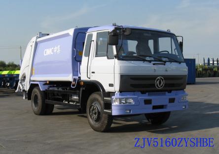 青岛中集环卫ZJV5100ZYSHBE型8-10立方 压缩式垃圾车高清图 - 外观