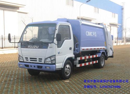 青岛中集环卫ZJV5070ZYSHBQ型4-7立方 压缩式垃圾车