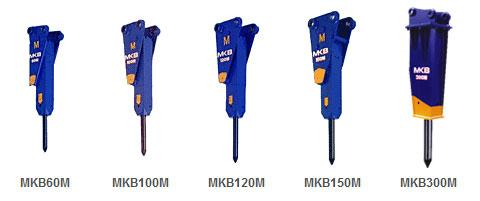 甲南M系列适用迷你小挖MKB油压破碎锤高清图 - 外观