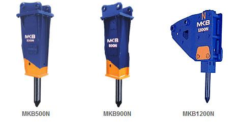 甲南N系列适用小型挖掘机MKB油压破碎锤高清图 - 外观