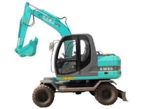 鲁牛SW65轮式挖掘机高清图 - 外观