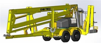 东迈重工TW22/TW37型拖车轮式高清图 - 外观