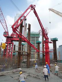 建研HGY28/24楼板爬升式布料机