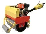 隆霄600A型小型羊角手扶单轮压路机