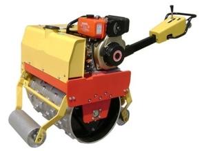 隆霄600A型小型羊角手扶单轮压路机高清图 - 外观