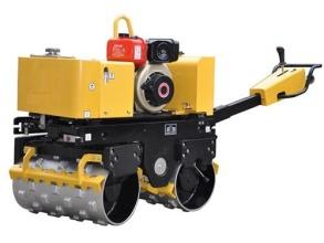 隆霄600B型小型羊角手扶双轮压路机高清图 - 外观
