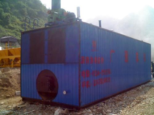 广通LQT-4吨燃煤装置式沥青脱桶融化设备(油缸推进式)