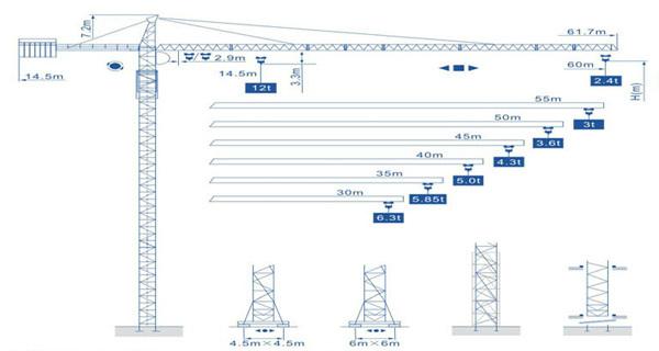 强力机械Q6024型尖头塔式起重机