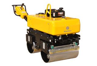 路得威RWYL34B小型高配置手扶式双钢轮压路机