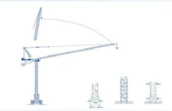 强力机械QD300型平头塔式起重机高清图 - 外观