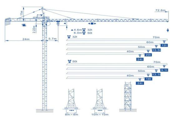 强力机械Q900型尖头塔式起重机