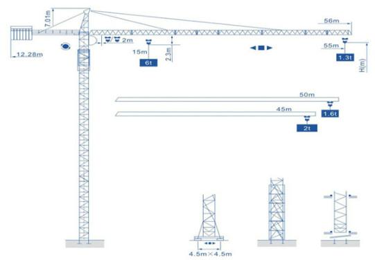 强力机械Q5513(6t)型尖头塔式起重机