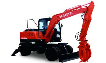 南特NTL100全液压履带式挖掘机高清图 - 外观