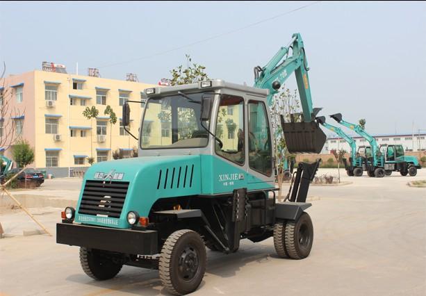 信杰WYL-70型轮式挖掘机高清图 - 外观