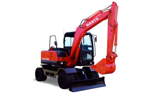 南特NT65W轮胎式挖掘机高清图 - 外观
