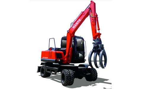 南特NT80W全液压履带式挖掘机高清图 - 外观