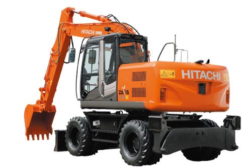 原装日立ZX140W-3轮式挖掘机高清图 - 外观