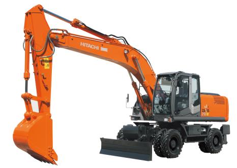 原装日立ZX210W-3轮式挖掘机高清图 - 外观