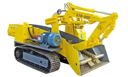 华鑫STB-80D型大坡度专用履带式扒渣机高清图 - 外观