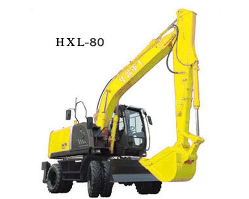 华鑫HXL-80(360度轮式挖掘机)高清图 - 外观