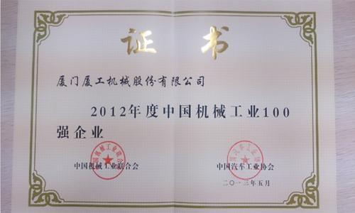 2012年中国机械工业企业百强(中国机械联合会)