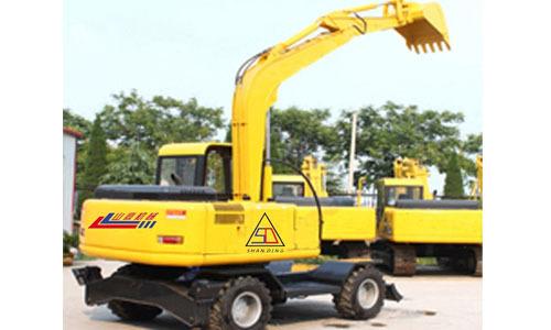 山鼎重工100-8双驱轮式小型挖掘机