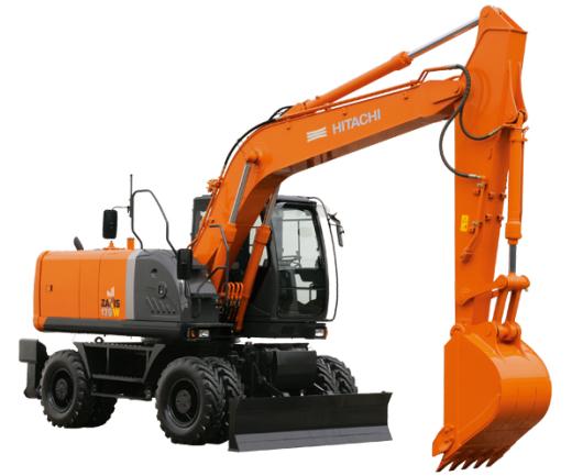 原装日立ZX170W-3轮式挖掘机高清图 - 外观