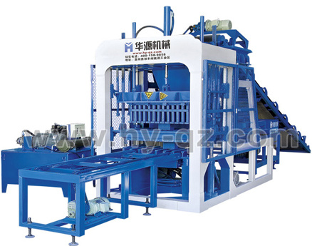 华源机械QT5-15全自动混凝土液压砌块成型机